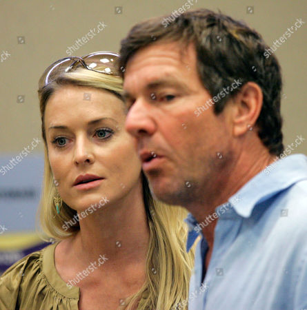 Kimberly Quaid, Dennis Quaid Kimberly Quaid, left, with husband Dennis Quaid arrive at a news conference after touring Children's Medical Center in Dallas, . They were at the hospital to see how the hospital guards against drug missapplications
