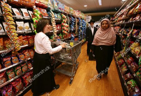 Stock Image of Rachel Weinstein Rachel Weinstein, left, shops for groceries at Pomegranate kosher foods supermarket in New York. The supermarket serves the growing population of Orthodox Jews in the Brooklyn borough of New York