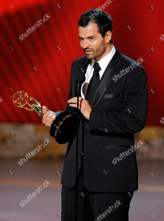 """Greg Yaitanes Director Greg Yaitanes arrives for the 60th Primetime Emmy Awards, at the Nokia Theatre in Los Angeles. Yaitanes is nominated for outstanding directing for a drama series for his work on the """"House"""" episode titled """"House's Head"""