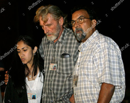 Christina Alamaraz, Randy Ertman, Adolfo Pena Adolfo Pena, from right, father of victim Elizabeth Pena, Randy Ertman, father of victim Jennifer Ertman, and Christina Alamaraz, friend of Jennifer Ertman, speak to the media after the execution of Mexican-born death row inmate Jose Medellin in Huntsville, Texas. In debate over slow executions, victim families wrestle with whether those condemned should suffer