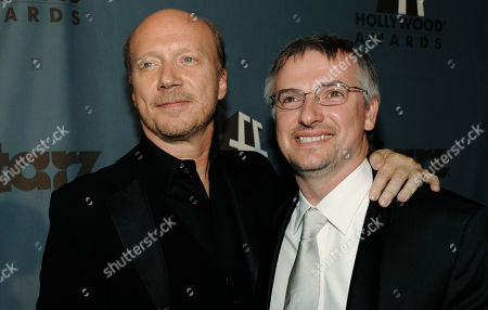 "Paul Haggis, Glen Mazzara Crash"" executive producers and screenwriters Paul Haggis, left, and Glen Mazzara pose together at the 12th Annual Hollywood Film Festival After Party in Beverly Hills, Calif"