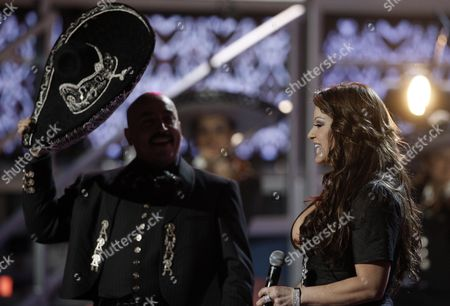 Jenni Rivera Lupillo Rivera, left, and Jenni Rivera perform at the 9th annual Latin Grammy Awards on in Houston