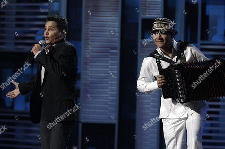 Jorge Celedon Jorge Celedon, left, performs at the 9th annual Latin Grammy Awards on in Houston