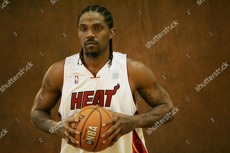 Udonis Haslem Miami Heat basketball player Udonis Haslem poses during the annual media day, in Miami