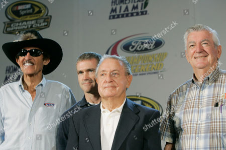 Richard Petty, Bobby Labonte, Rex White, Bobby Allison Former NASCAR champions pose during a news conference in Coral Gables, Fla. The group, representing all different ecomomic eras, reflected on how it used to be in the good old days. From left: Richard Petty, Bobby Labonte, Rex White and Bobby Allison