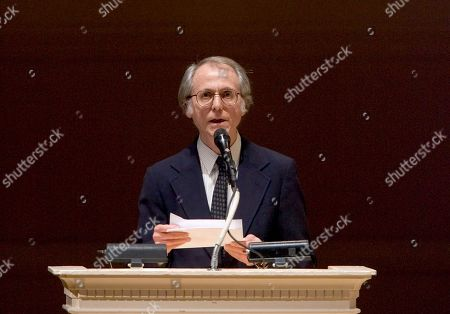 """Don DeLillo Author Don DeLillo speaks at """"The Time of His Life: A Celebration of the Life of Norman Mailer"""" tribute at Carnegie Hall in New York. DeLillo is receiving an honorary National Book Award for lifetime achievement. The author of """"White Noise,"""" """"Underworld"""" and other celebrated novels will receive his medal on Nov. 18, 2015, at the annual awards ceremony, the National Book Foundation told The Associated Press on"""