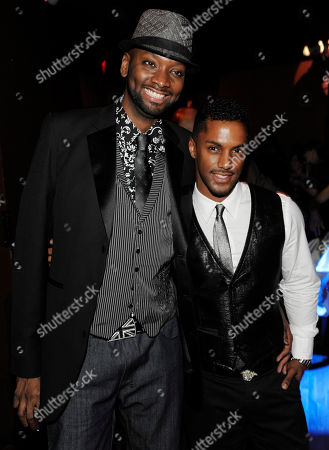 """Patrik-Ian Polk, Darryl Stephens Noah's Arc: Jumping the Broom"""" director Patrik-Ian Polk, left, and cast member Darryl Stephens pose together at the post-premiere party for the film in Los Angeles"""
