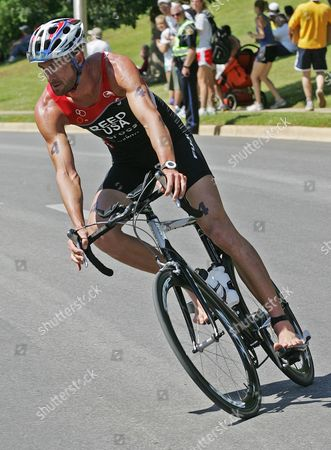 Matt Reed Matt Reed, of New Zealand, pedals his bike during the U.S. Triathlon Olympic Trials in Tuscaloosa, Ala., . Reed, a new US citizen, earned a spot on the American Olympic team with the win in the trials