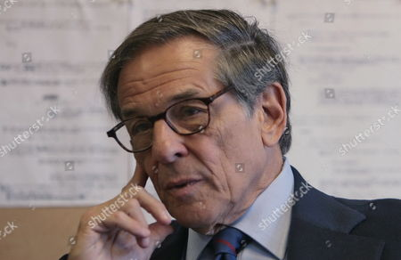 Author and biographer Robert Allan Caro during an interview in New York, Wednesday Aug. 20, 2008