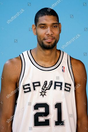 Tim Duncan San Antonio Spurs' Tim Duncan during media day at the team's practice facility in San Antonio