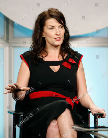 """Diane Ruggiero Diane Ruggiero, from the show """"The Ex List"""", is seen during the CBS panel at the Television Critics Association summer press tour in Beverly Hills Calif. on"""