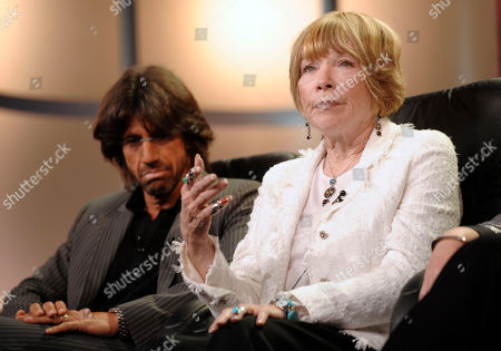 """Christian Duguay,Shirley Maclaine Director Christian Duguay, left, and actress Shirley Maclaine from the upcoming Lifetime TV movie """"Coco Chanel"""" are seen during the Television Critics Association summer press tour in Beverly Hills, Calif. on"""