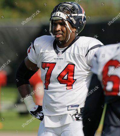 Ephraim Salaam Houston Texans tackle Ephraim Salaam (74) during a training camp workout in Houston