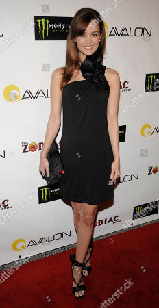 Stock Picture of April Scott Actress April Scott arrives for a private performance of The Zodiac Show, produced by former Pussycat Doll Carmit Bachar, at the Avalon Theater in Los Angeles