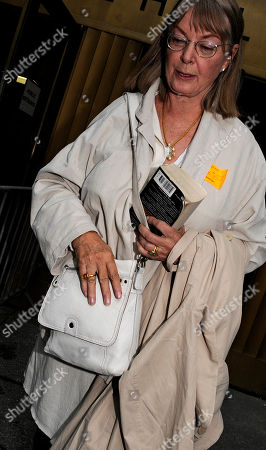 """Birgitte Nena Thurman Birgitte """"Nena"""" Thurman, mother of actress Uma Thurman exits Manhattan criminal court following her testimony in the trial of the man accused of stalking her daughter, in New York"""