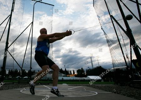 A. J. Kruger A. J. Kruger throws in the men's hammer throw final at the U.S. Olympic Track and Field Trials in Eugene, Ore., . Kruger finished in first place to earn a place on the men's U.S. Olympic team
