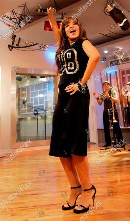 Gloria Trevi Mexican singer Gloria Trevi, performs during the recording of 'La Descarga Con Albita' television show in Miami