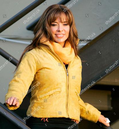Gloria Trevi Mexican singer Gloria Trevi, leaves the studio after the recording of 'La Descarga Con Albita' television show in Miami