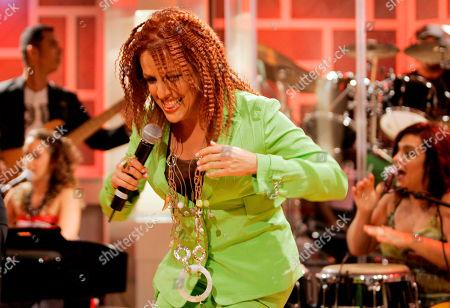 Albita performs during the recording of 'La Descarga Con Albita' television show in Miami