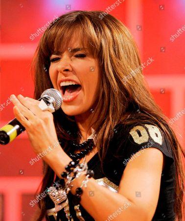 Gloria Trevi Gloria Trevi, of Mexico, performs during the recording of 'La Descarga Con Albita' hispanic television show in Miami