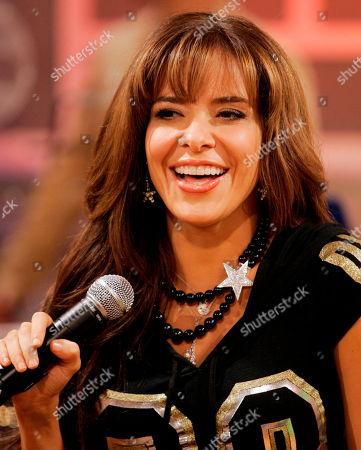 Gloria Trevi Mexican singer Gloria Trevi is shown during the recording of 'La Descarga Con Albita' television show in Miami