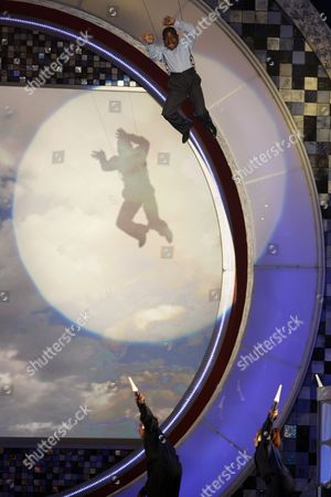 Gary Coleman Actor Gary Coleman flies on to stage during the opening of the TV Land Awards on in Santa Monica, Calif