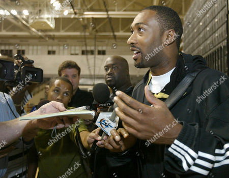 Gilbert Arenas Gilbert Arenas answers questions for the media during the Wizards training camp, in Richmond, Va. Arenas was fined $15,000 Friday for ducking out of the team's annual preseason media day