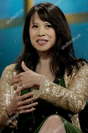 "Actress Lauren Tom of the new drama ""Men in Trees,"" speaks during the ABC Summer Press Tour in Beverly Hills, Calif"