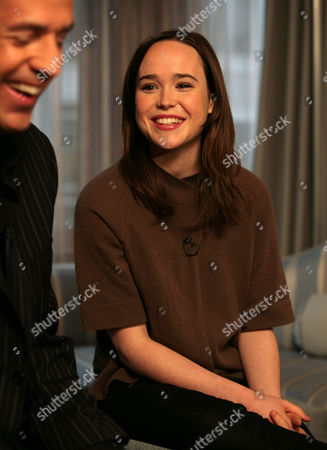 "Stock Photo of Tony Potts, Ellen Page Actress Ellen Page, right, is interviewed by ""Access Hollywood"" correspondent Tony Potts during a taping of a segment for the show at The London hotel in New York. Page snagged a best actress Golden Globe nomination for her work in the comedy ""Juno"