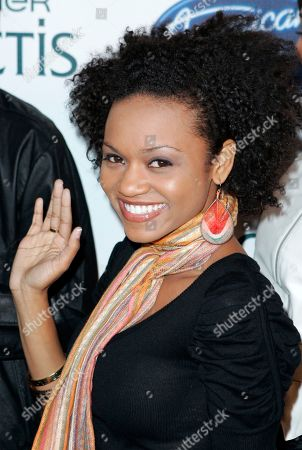 Syesha Mercado American Idol Season 7's Top 24 contestant Syesha Mercado poses at a party in their honor, in Los Angeles