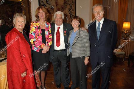 Priscilla Carluccio, guest, Antonio Carluccio, Tessa Jowell and guest
