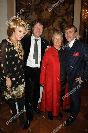 Catherine Boorman, guest, Priscilla Carluccio and Jasper Conran