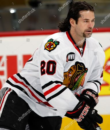 Robert Lang Chicago Blackhawks center Robert Lang, of the Czech Republic, warms up before facing the Colorado Avalanche before an NHL hockey game in Denver on