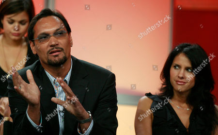 Jimmy Smits;Paola Turbay Jimmy Smits, of the new television series 'Cane,' is seen during the CBS Press Tour in Beverly Hills, Calif., . At right looking on is Paola Turbay