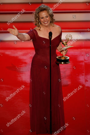 """Genie Francis Genie Francis accepts the award for outstanding supporting actress in a drama series, for her work on """"General Hospital,"""" at the 34th Annual Daytime Emmy Awards in Los Angeles on"""