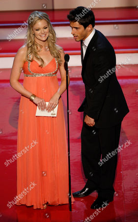 """Martha Madison; Brandon Beemer Actors Martha Madison, left, and Brandon Beemer present the Emmy for """"Outstanding Younger Actor in a Drame Series at the 34th Annual Daytime Emmy Awards in Los Angeles"""