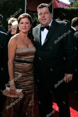 Steve Schirripa, Laura Schirripa Steve Schirripa and his wife Laura arrive for the 59th Primetime Emmy Awards, at the Shrine Auditorium in Los Angeles