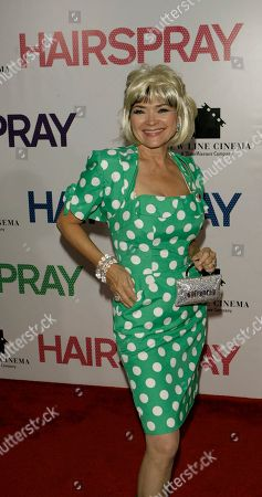 """Linda Hart Actress Linda Hart arrives at the New York premiere of """"Hairspray"""" held at the Ziegfield Theater"""