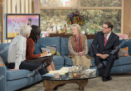 Phillip Schofield and Christine Lampard with Virginia McKenna and Will Travers