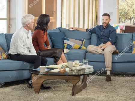 Phillip Schofield and Christine Lampard with Matt Di Angelo