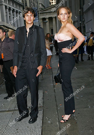 Stock Photo of Roby Sobieski; Leelee Sobieski Actress Leelee Sobieski and her brother Roby Sobieski arrive for the celebration of the opening of the house of Hermes newest location in New York City, at 15 Broad Street in the financial district opposite the New York Stock Exchange on