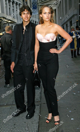 Stock Image of Roby Sobieski; Leelee Sobieski Actress Leelee Sobieski and her brother Roby Sobieski arrive for the celebration of the opening of the house of Hermes newest location in New York City, at 15 Broad Street in the financial district opposite the New York Stock Exchange on