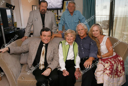 Jerry Mathers;Barbara Billingsley; Tony Dow; Lauren Shulkind;Frank Bank;Ken Osmond The cast of Leave It To Beaver poses for a photo as they are reunited in Santa Monica, Calif., to celebrate the 50th anniversary of the show which will be celebrated on the cable channel, TV Land on October 6th and 7th. The cast was shooting a segment for Good Morning America. Seated (L to R): Jerry Mathers, Barbara Billingsley, Tony Dow and his wife Lauren Shulkind. Standing (L to R): Frank Bank and Ken Osmond