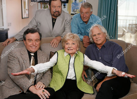 Jerry Mathers;Barbara Billingsley; Tony Dow;Frank Bank;Ken Osmond The cast of Leave It To Beaver poses for a photo as they are reunited in Santa Monica, Calif., to celebrate the 50th anniversary of the show which will be celebrated on the cable channel, TV Land on October 6th and 7th. The cast was shooting a segment for Good Morning America. Seated (L to R): Jerry Mathers, Barbara Billingsley, Tony Dow. Standing (L to R): Frank Bank and Ken Osmond