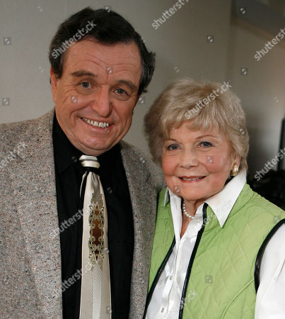 Barbara Billingsley;Jerry Mathers Barbara Billingsley and Jerry Mathers, members of the cast of Leave It To Beaver, are seen as they are reunited in Santa Monica, Calif. . The show will have its 50th anniversary in which it will be celebrated on the cable channel, TV Land on October 6th and 7th
