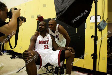 best service 35daa 30de8 Penny Hardaway Shaquille ONeal Miami Heat guard Editorial ...