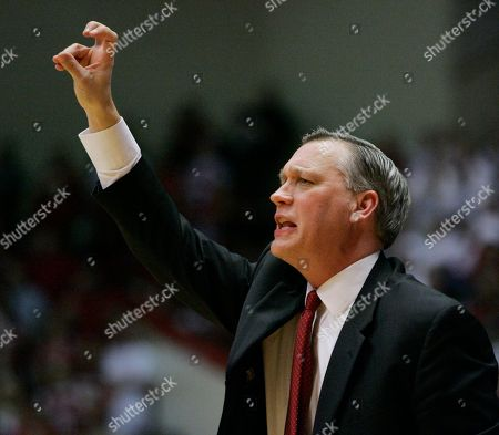 Jeff Meyer Indiana assistant coach Jeff Meyer gives instructions during a college basketball game in Bloomington, Ind