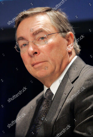 Stock Photo of Lon Jacobs News Corp. General Counsel Lon Jacobs during a news conference following the News Corp. annual meeting, in New York