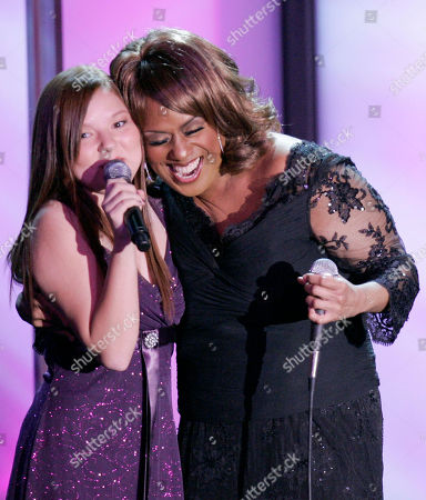 "Jennifer Holliday,Bianca Ryan Jennifer Holliday, right, and ""America's Got Talent"" 2006 winner Bianca Ryan perform during ""Operation Smile"" 25th anniversary gala in Beverly Hills, Calif., . Operation Smile is a worldwide children's medical charity dedicated to improve the health and lives of children and young adults"