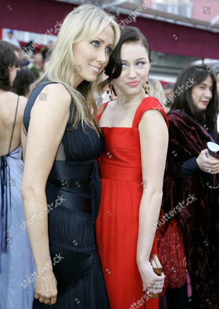 Miley Cyrus, Tish Cyrus Miley Cyrus, right, and her mother Leticia arrive at the 80th Academy Awards at the Kodak Theatre in Los Angeles